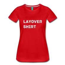 Load image into Gallery viewer, Layover Shirt Women's Cut - red