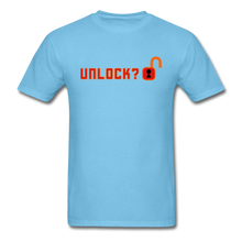 Load image into Gallery viewer, Unlock T-Shirt - aquatic blue