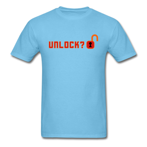 Unlock T-Shirt - aquatic blue