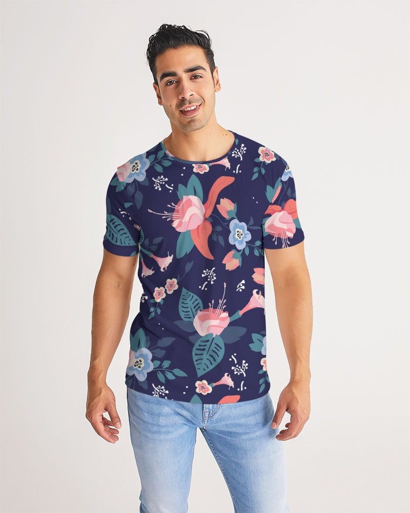 Blue Floral Men's Tee - BravoPapa Clothing