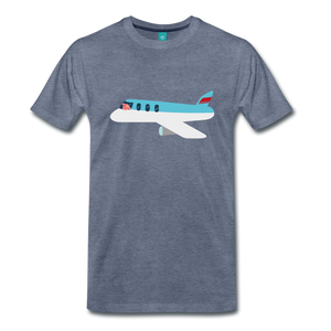 Flying Pig T-Shirt - heather blue