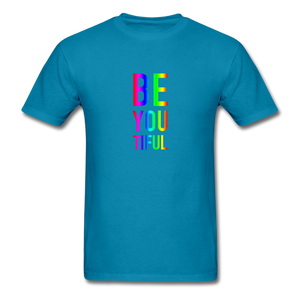 BE YOU TIFUL (Pride Colors) T-Shirt - turquoise