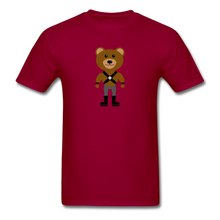 Load image into Gallery viewer, Muscle Bear T-Shirt . - dark red