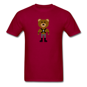 Muscle Bear T-Shirt . - dark red