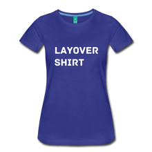 Load image into Gallery viewer, Layover Shirt Women's Cut - royal blue