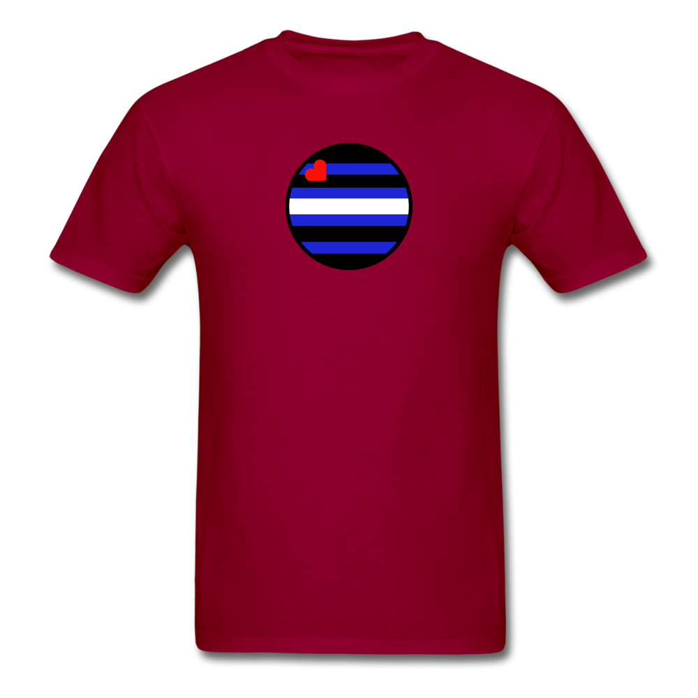 Leather Pride T-Shirt - dark red
