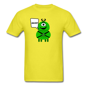 Flirty Alien T-Shirt - yellow