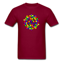 Load image into Gallery viewer, Kaleidoscope Pride  T-Shirt - burgundy