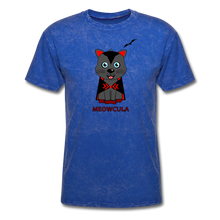 Load image into Gallery viewer, Meowcula vampire Cat Halloween T-Shirt - mineral royal