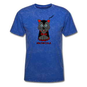 Meowcula vampire Cat Halloween T-Shirt - mineral royal