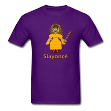 Load image into Gallery viewer, Slayoncé (Beyonce Parody)Halloween T-Shirt - purple
