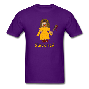 Slayoncé (Beyonce Parody)Halloween T-Shirt - purple