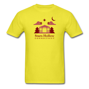Stars Hollow Men's T-Shirt - yellow