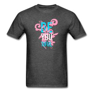 Be You Tiful Transgender Pride Flag Colors - heather black