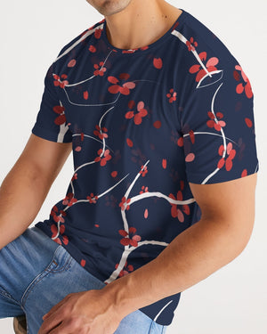 Cherry Blossom Floral Pattern Men's Tee - BravoPapa Clothing