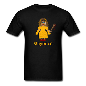 Slayoncé (Beyonce Parody)Halloween T-Shirt - black