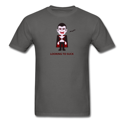 Thirsty Vampire T-shirt - charcoal