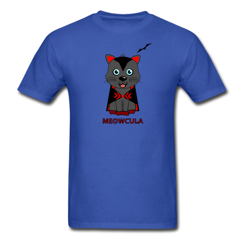 Meowcula vampire Cat Halloween T-Shirt - royal blue