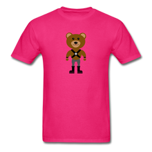 Load image into Gallery viewer, Muscle Bear T-Shirt . - fuchsia