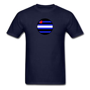 Leather Pride T-Shirt - navy