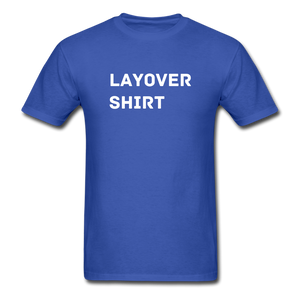 Layover Crew Life T-Shirt - royal blue