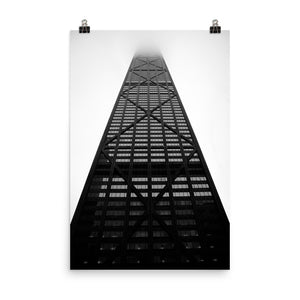 Chicago Hancock Black and White Premium Luster Photo Paper Poster (in)