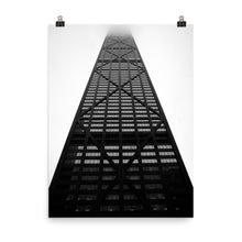 Load image into Gallery viewer, Chicago Hancock Black and White Premium Luster Photo Paper Poster (in)