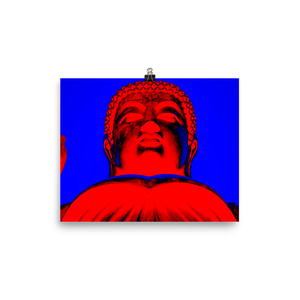 Pop Art Buddha (Red) Enhanced Matte Paper Poster - BravoPapa Clothing