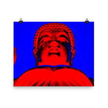 Load image into Gallery viewer, Pop Art Buddha (Red) Enhanced Matte Paper Poster