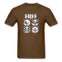 Load image into Gallery viewer, HISS (KISS Band Parody) Cat T-Shirt - brown