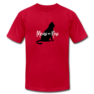 Meow = Now Demanding Cat T-Shirt - red