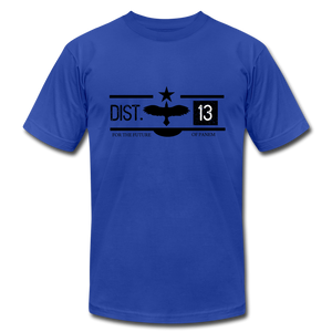 District 13 Hunger Games Inspired T-Shirt - royal blue