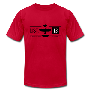 District 13 Hunger Games Inspired T-Shirt - red