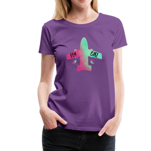 Fly Girl Women in Aviation T-Shirt - purple