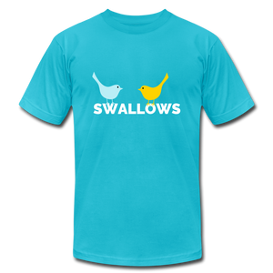 Swallows Bird T-Shirt - turquoise