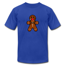 "Load image into Gallery viewer, Ginger ""Bred"" Man Holiday T-Shirt - royal blue"