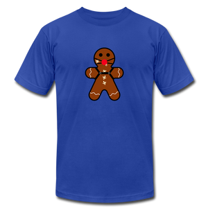 "Ginger ""Bred"" Man Holiday T-Shirt - royal blue"