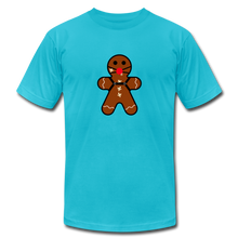"Load image into Gallery viewer, Ginger ""Bred"" Man Holiday T-Shirt - turquoise"