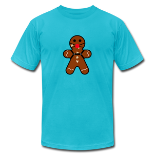"Ginger ""Bred"" Man Holiday T-Shirt - turquoise"