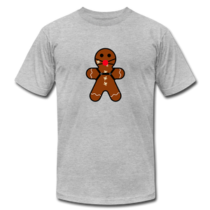 "Ginger ""Bred"" Man Holiday T-Shirt - heather gray"