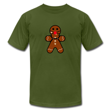 "Load image into Gallery viewer, Ginger ""Bred"" Man Holiday T-Shirt - olive"