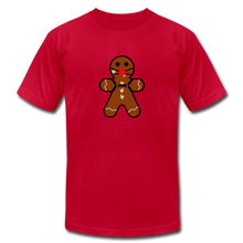 "Load image into Gallery viewer, Ginger ""Bred"" Man Holiday T-Shirt - red"