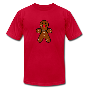 "Ginger ""Bred"" Man Holiday T-Shirt - red"