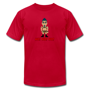 Ho! Ho! Ho! Naughty Gay XMas T-Shirt - red