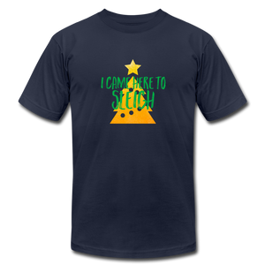 Here to Sleigh V2 Christmas T-Shirt - navy