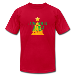 Here to Sleigh V2 Christmas T-Shirt - red