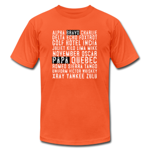BravoPapa Phonetic Alphabet Reverse T-shirt - BravoPapa Clothing