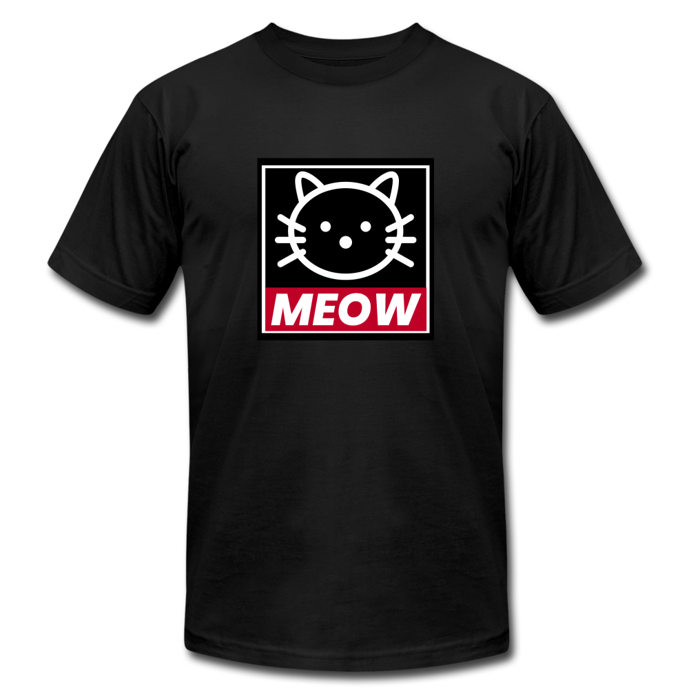 Meow (OBEY inspired) Cat Unisex Jersey T-Shirt - BravoPapa Clothing