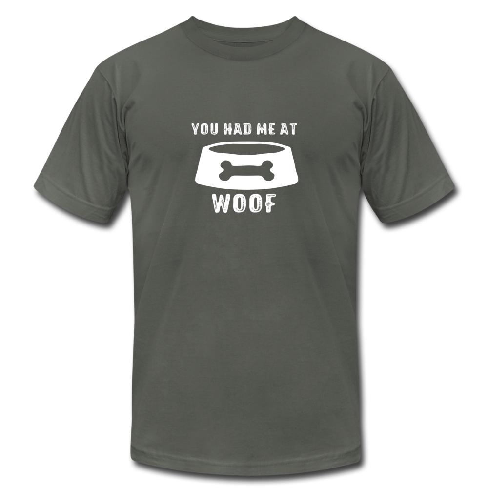 You Had Me At Woof Unisex Jersey Gay T-Shirt - BravoPapa Clothing