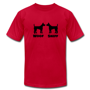 Woof Sniff Puppy Play T-Shirt - red